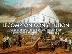 Timeline Of The Lecompton Constitution. Definition & Summary