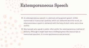 Extemporaneous Speech – Definition, Examples And Tips